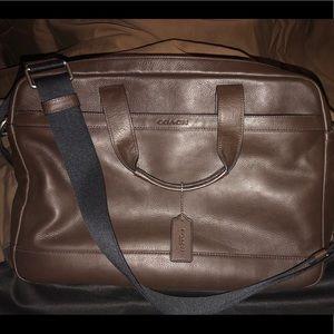 Coach Briefcase - Chocolate Brown